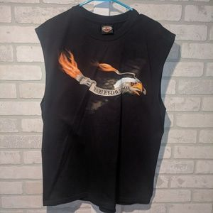 Harley Davidson graphic tank top, lg